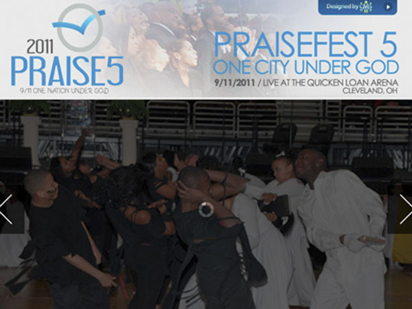 Web project for praisefest2011